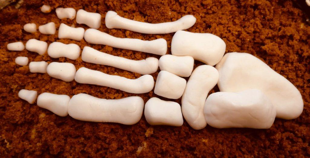 Fußknochen-Torte