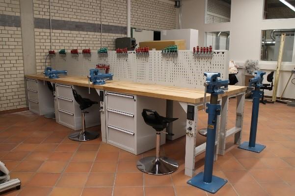 Werkstatt in der Berufsschule in Gotha