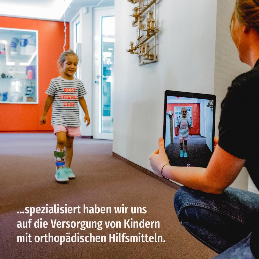...spezialisiert haben wir uns auf die Versorgung von Kindern mit orthopädischen Hilfsmitteln.