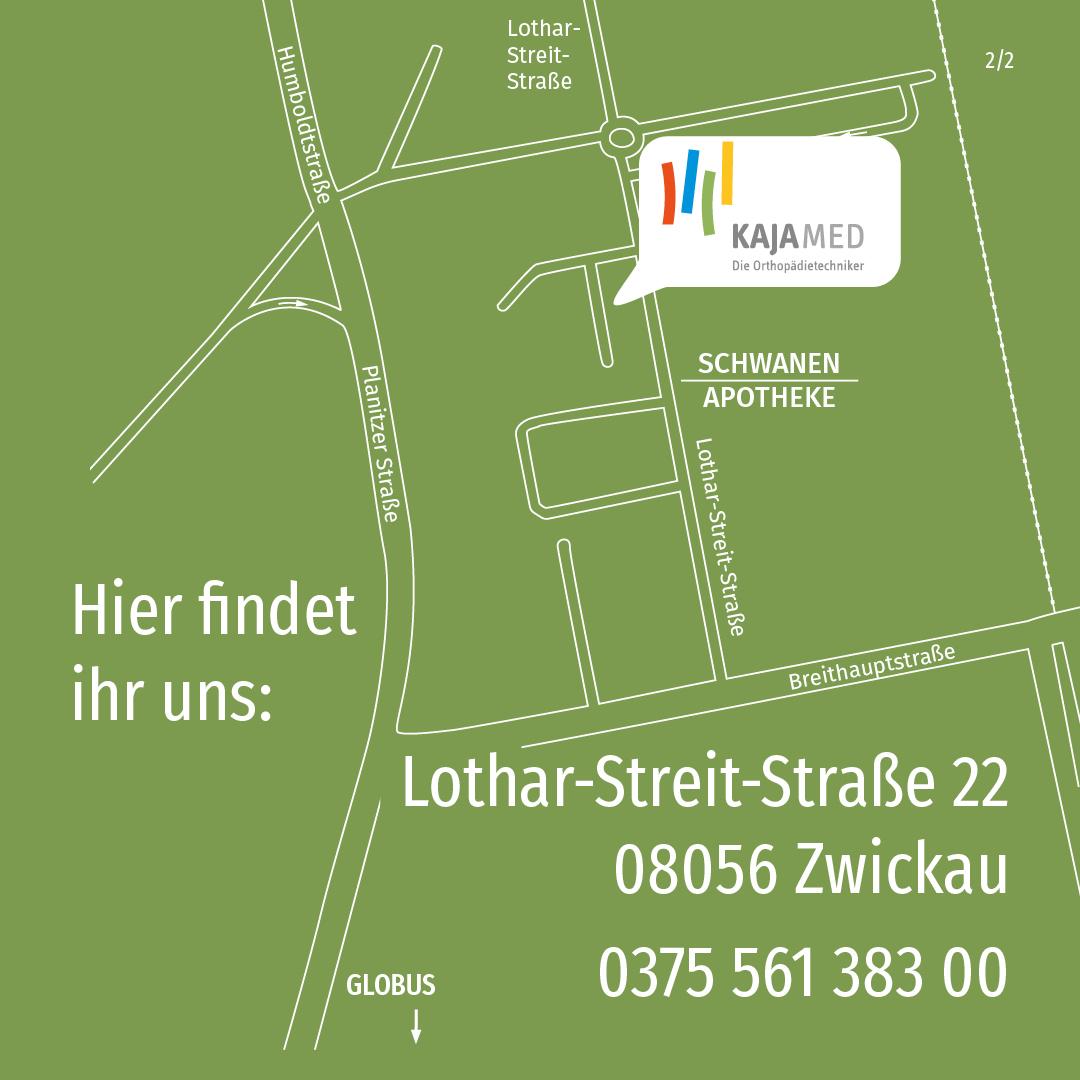 Anfahrt Kajamed Hauptsitz Zwickau