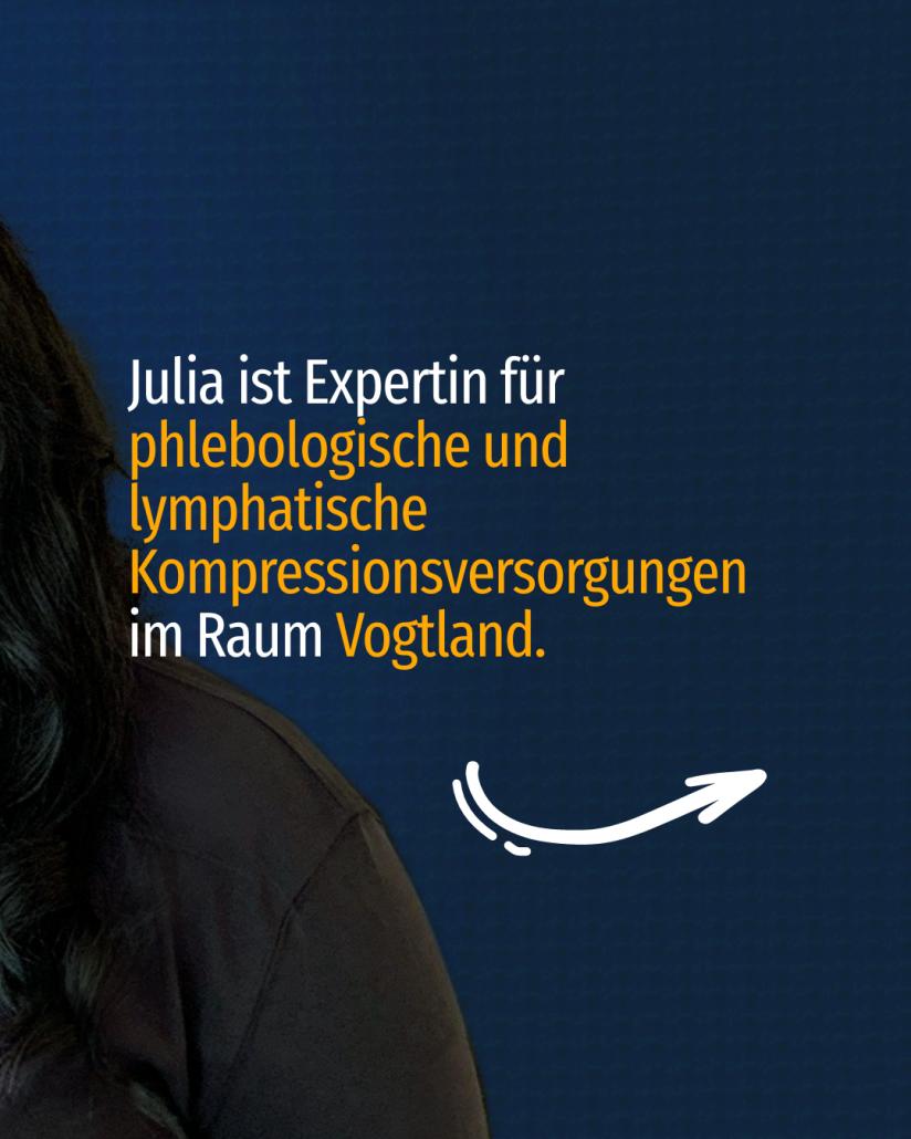 Sie ist Expertin für phlebologische und lymphatische Kompressionsversorgungen im Raum Vogtland.