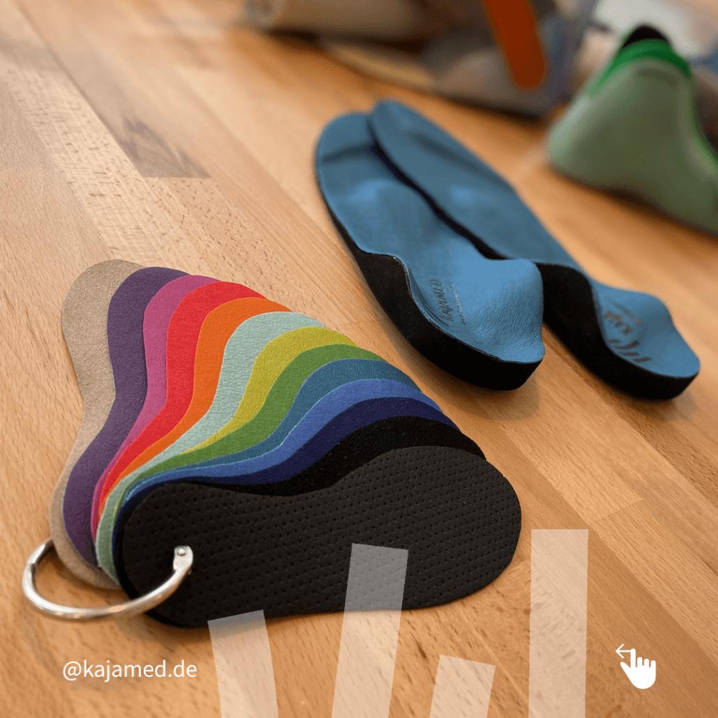 Farbige Schuheinlagen