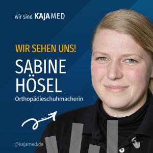 Sabine, Orthopädieschuhmacherin in unserer Chemnitzer Filiale